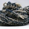 handspun blue and white yarn